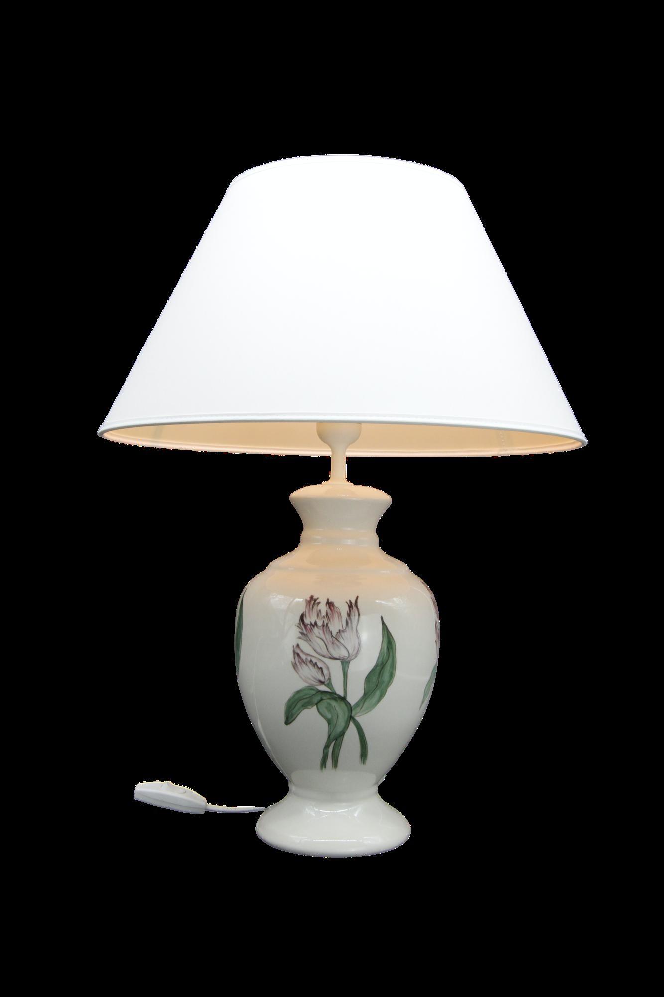 Lampa Amfora Mała Tulipany Vintage