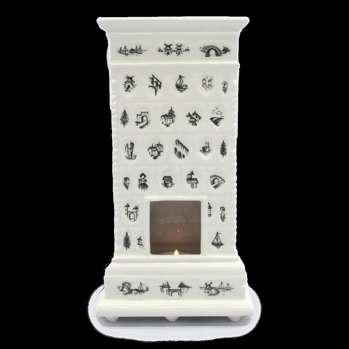 Miniatura pieca Gabinet Pani Pałac Nakomiady Czarny