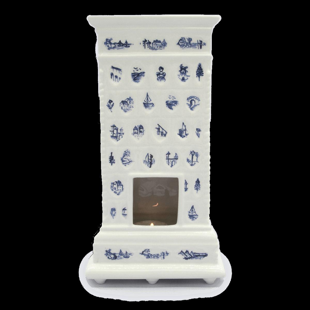 Miniatura pieca Gabinet Pani Pałac Nakomiady Niebieski