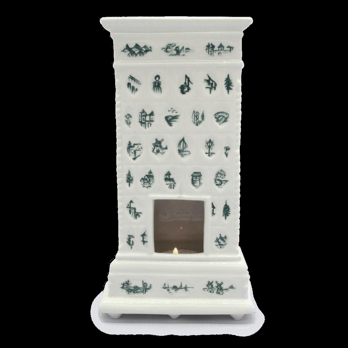 Miniatura pieca Gabinet Pani Pałac Nakomiady Zielony